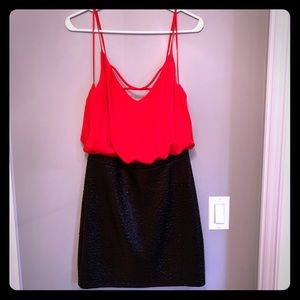 NWT Guess mini red and black dress